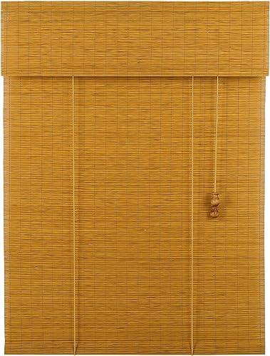 MUANNA Custom Cut to Size Bamboo Roller Shade