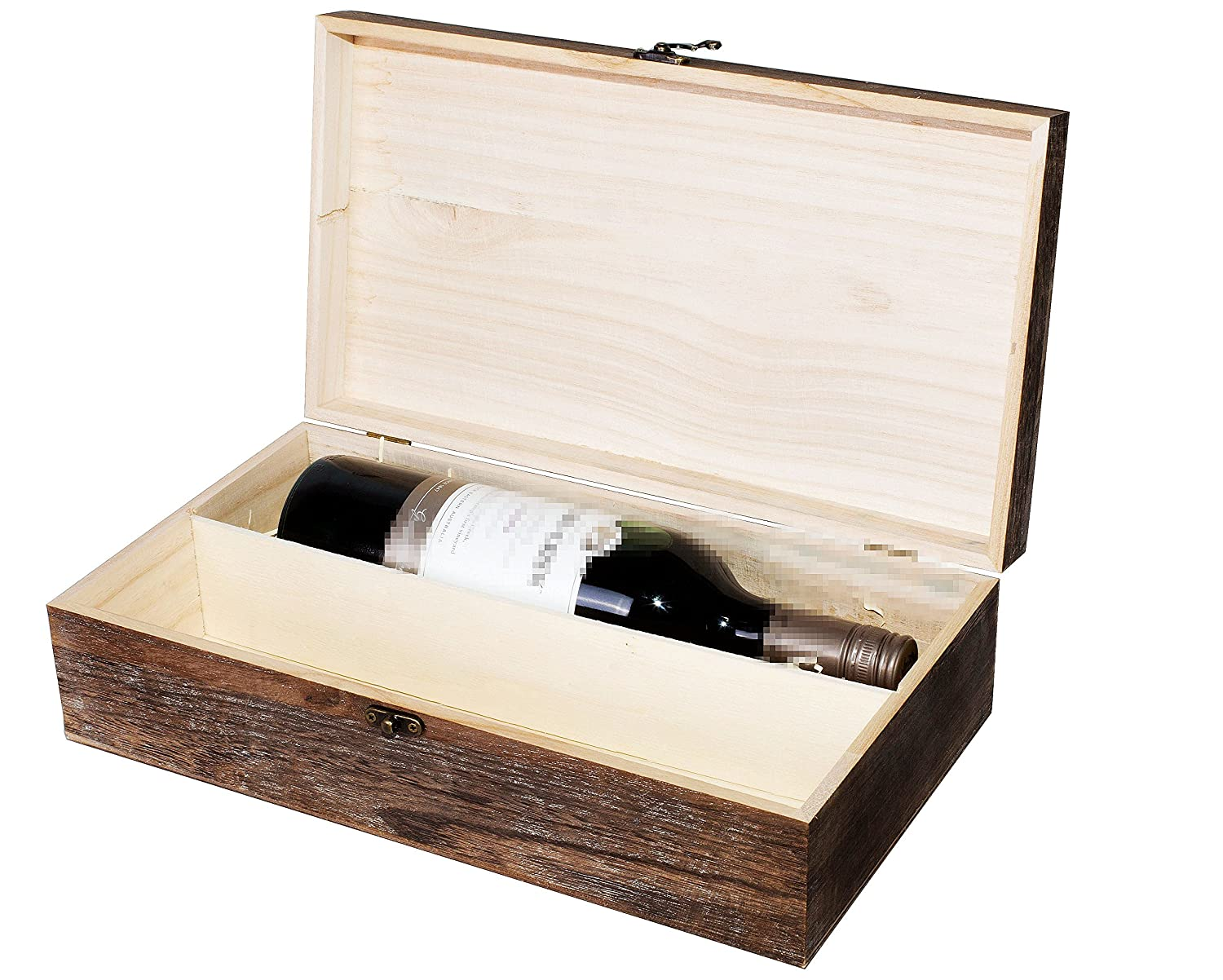 Wooden Wine Box Holder Case 123 Bottles Two Colors Plain Brown Available Brown Colored 2 Bottles