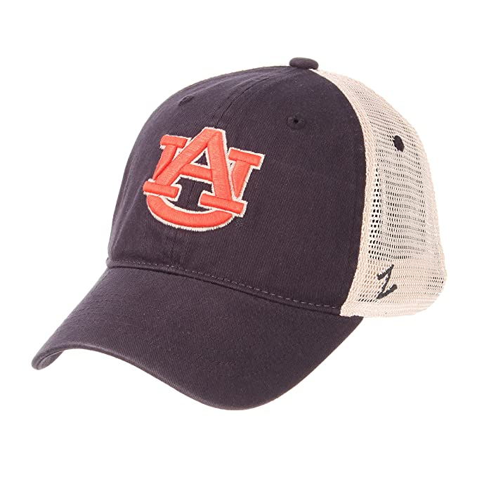 Zephyr NCAA Relaxed Fit Vintage- University- Adjustable Trucker Hat Cap-Auburn  Tigers 50c9cb40fc8