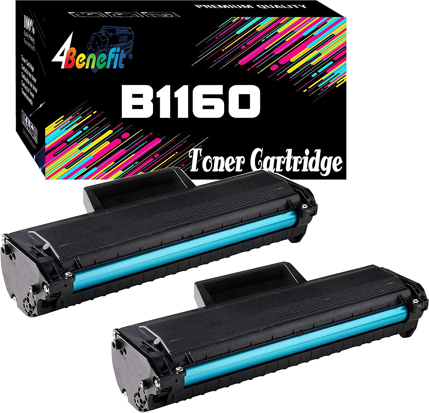 4Benefit Replacement Compatible Toner Cartridge Replacement For Dell B1160 Laser Printer B1163w, B1165nfw, B1160, B1160W (2-Pack)
