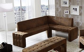 Sam Design Esszimmer Eckbank 200 X 160 Cm Wildlederoptik Stoff Gobi