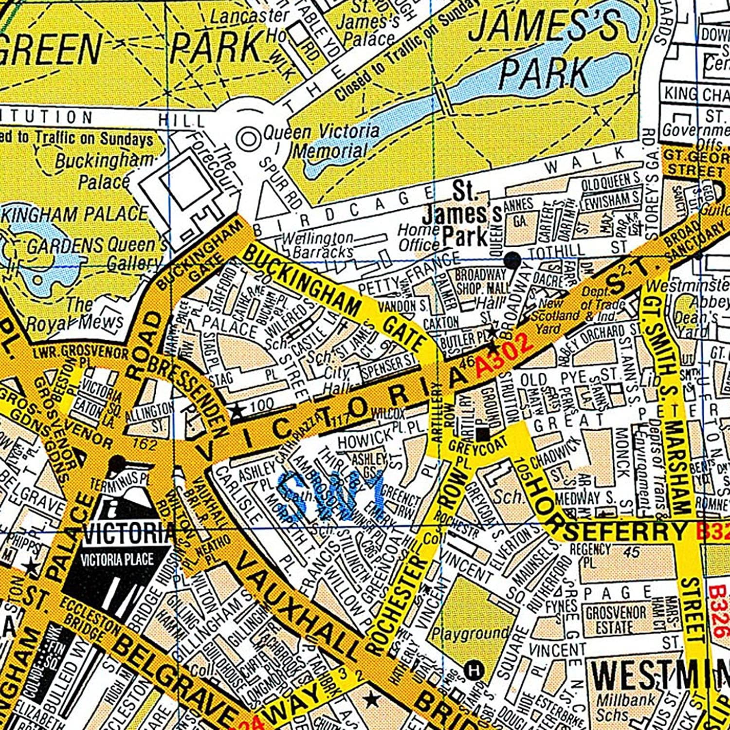 London A-Z Wall Map Premier Edition Laminated