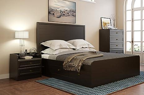 Amazon.com: 3 Piece Queen Size Storage Bed Set GEORGIA Bedroom ...