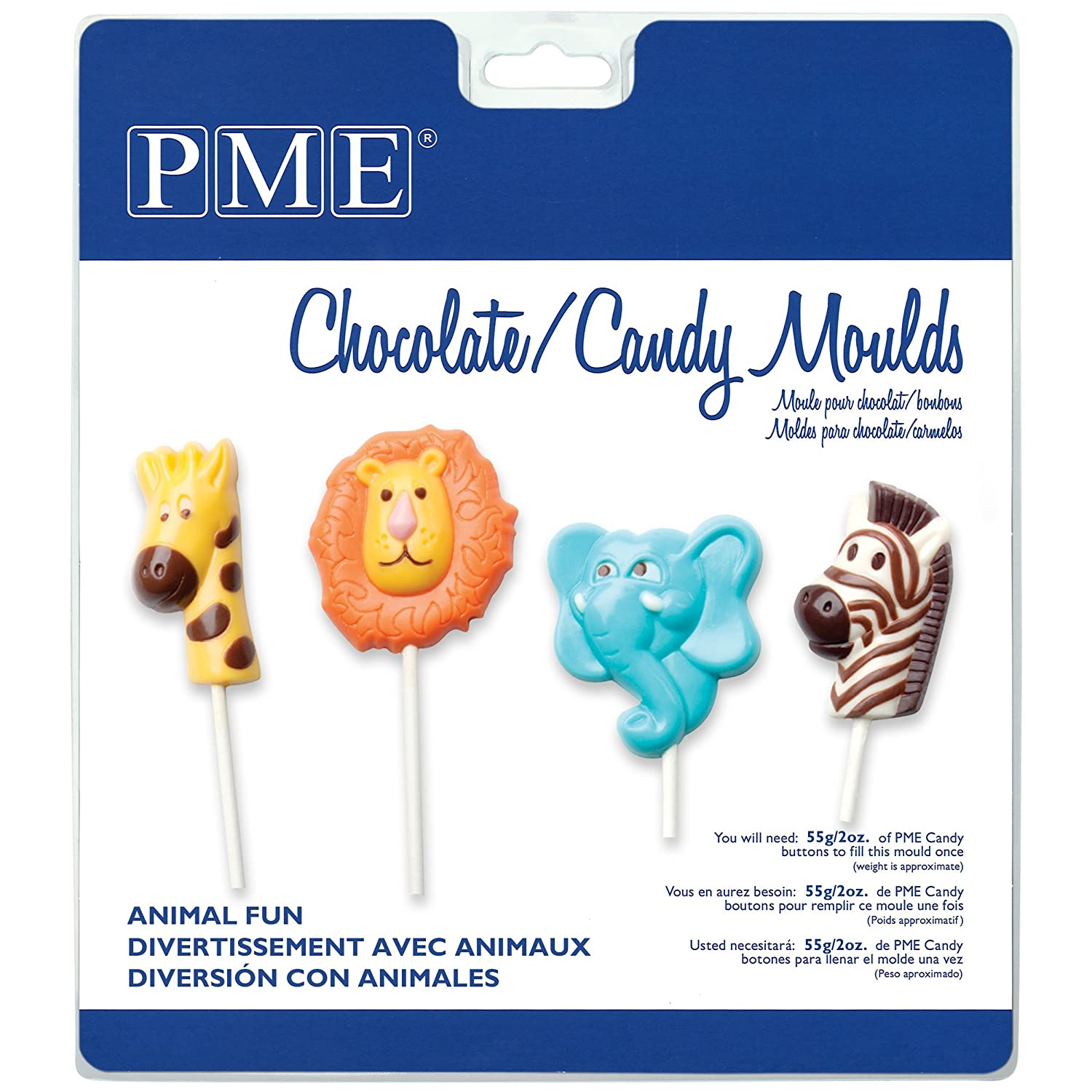 Amazon.com: PME CM405 Chocolate/Candy Mold-Animal Fun, Standard, Transparent: Kitchen & Dining