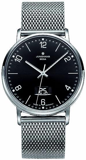 Junghans 030/4044.44 - Reloj analógico de cuarzo para hombre con correa de acero inoxidable, color plateado: Amazon.es: Relojes