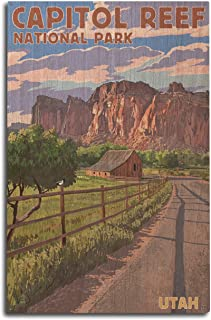product image for Lantern Press Capitol Reef National Park, Utah - Barn View (10x15 Wood Wall Sign, Wall Decor Ready to Hang)