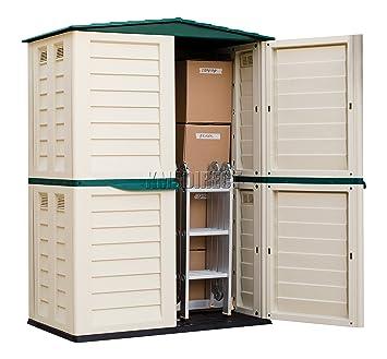 Starplast unidad de almacenamiento Caja de jardín de alto Cobertizo de plástico exterior sin óxido 5 FT X 3 FT 37 - 811 - Verde y Beige: Amazon.es: ...