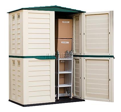 Starplast unidad de almacenamiento Caja de jardín de alto Cobertizo de plástico exterior sin óxido 5