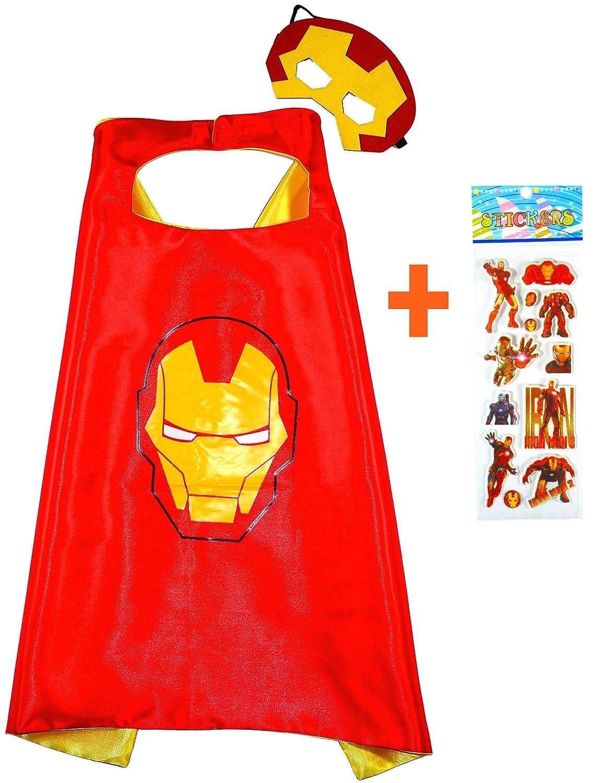 Iron Man Capa y máscara para niños superhéroe - Superhéroes niños ...