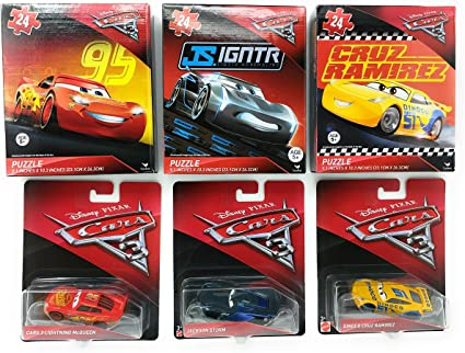 Amazon Com Cars 3 Disney Lightning Mcqueen Jackson Storm Cruz