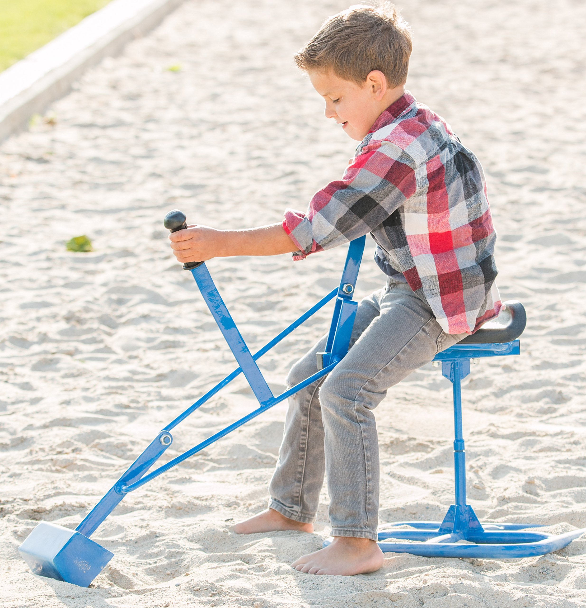 Childrensneeds.com Tough Kid Sand Digger Toy Backhoe: Commercial Grade Heavy Duty (Blue) by Childrensneeds.com (Image #4)