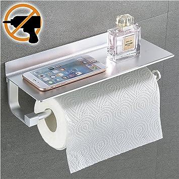 Wangel Rollenhalter Wandrollenhalter Für Küchenkrepp Ohne Bohren,  Patentierter Kleber + Selbstklebender 3M Kleber,