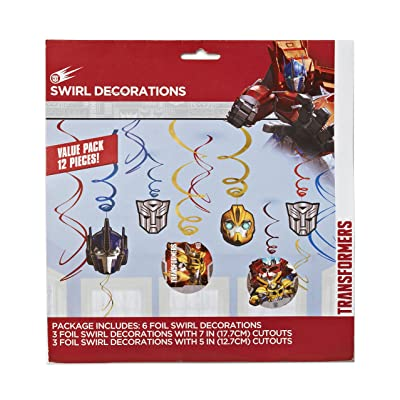Transformers Value Pack Foil Swirl Decorations, Party Favor: Toys & Games