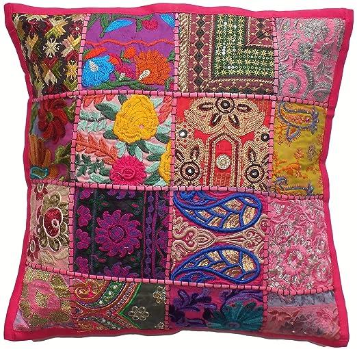 Tamaño grande funda de cojín con cremallera rosa 24 x 24