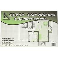 """11x17 Grid Pad 1/4"""" Square Quadrille Graph (576683)"""