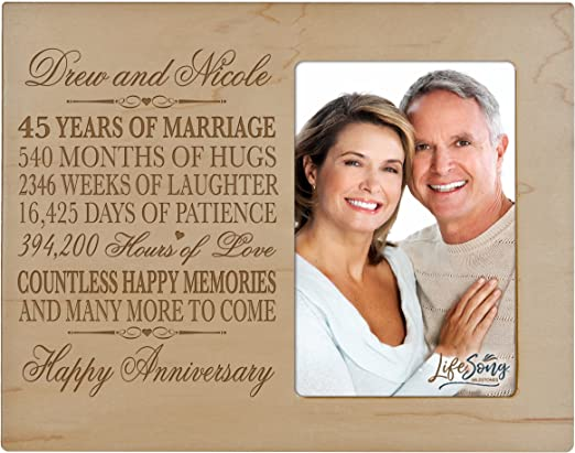 45 Year Anniversary Gift PERSONALIZED FAST 45th Year for Her Him or Couple!