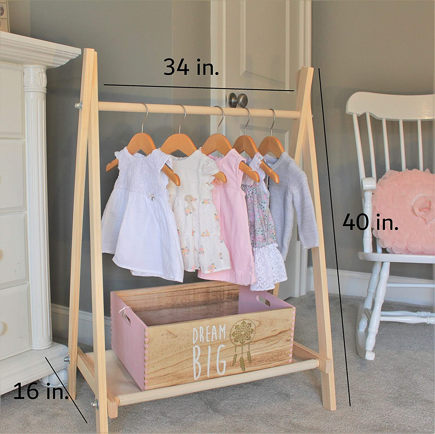 childrens dress up clothes rack children clothing rack wooden