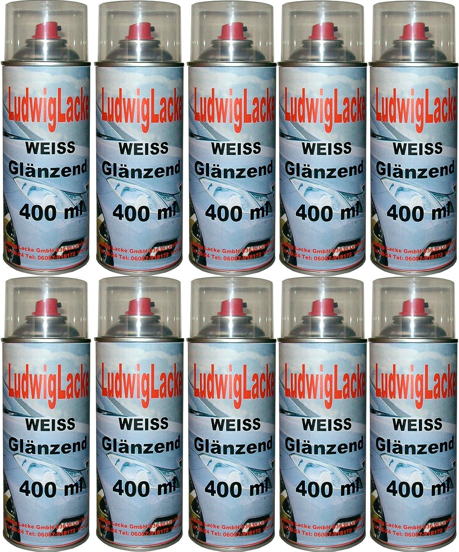 10 Lackspray Weiss Glänzend 400 Ml Je Spraydose Baumarkt