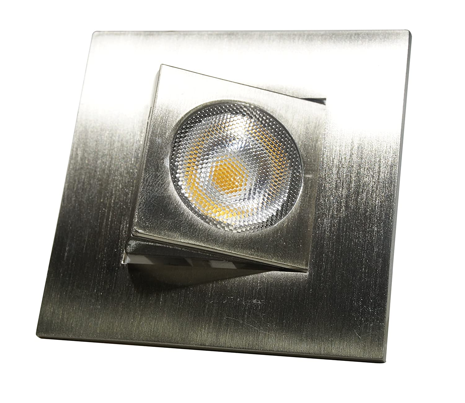 Oil-Rubbed Bronze DQR2-AA-10-120-3K-OB NICOR Lighting 2-Inch Adjustable Square Eyeball 3000K LED Downlight Fixture for 2-Inch Recessed Housings