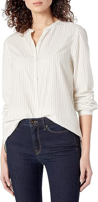 Goodthreads Amazon Brand Women's Lightweight Cotton Long Fashion-Sleeve Shirt