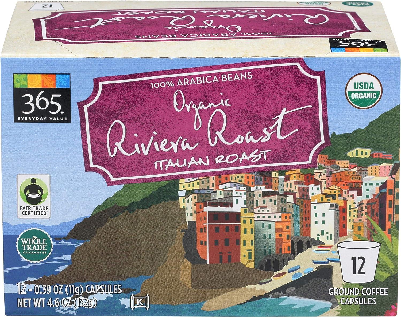 365 Everyday Value, Organic Riviera Roast Coffee Capsules, 12 ct