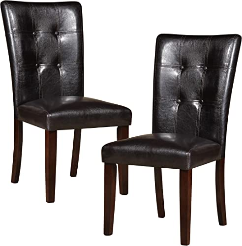 Homelegance Decatur PU Leather Dining Chair Set of 2