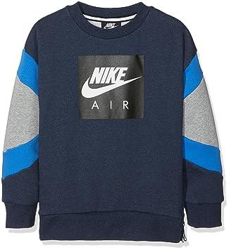 4155be7c2bc4 Nike Jungen Pullover B Nk Air Crew, Blau (Obsidianheather Dk Grey Heather  473