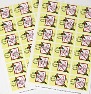 36 Christmas Stamps Franked Grotto North Pole High Quality Self Adhesive Vinyl