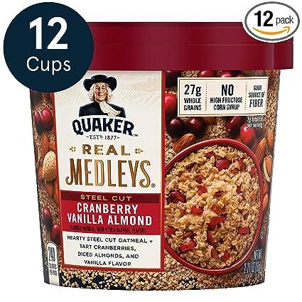 Avena Quaker Real Medleys Oatmeal+, nuez de manzana, comida ...