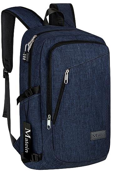 Amazon.com: Slim Laptop Backpack, College School Travel Bag for ...