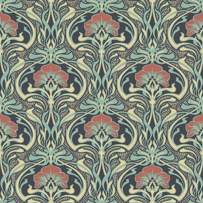 Crown M1196 Donovan Moss Nouveau Floral Wallpaper Amazon Com