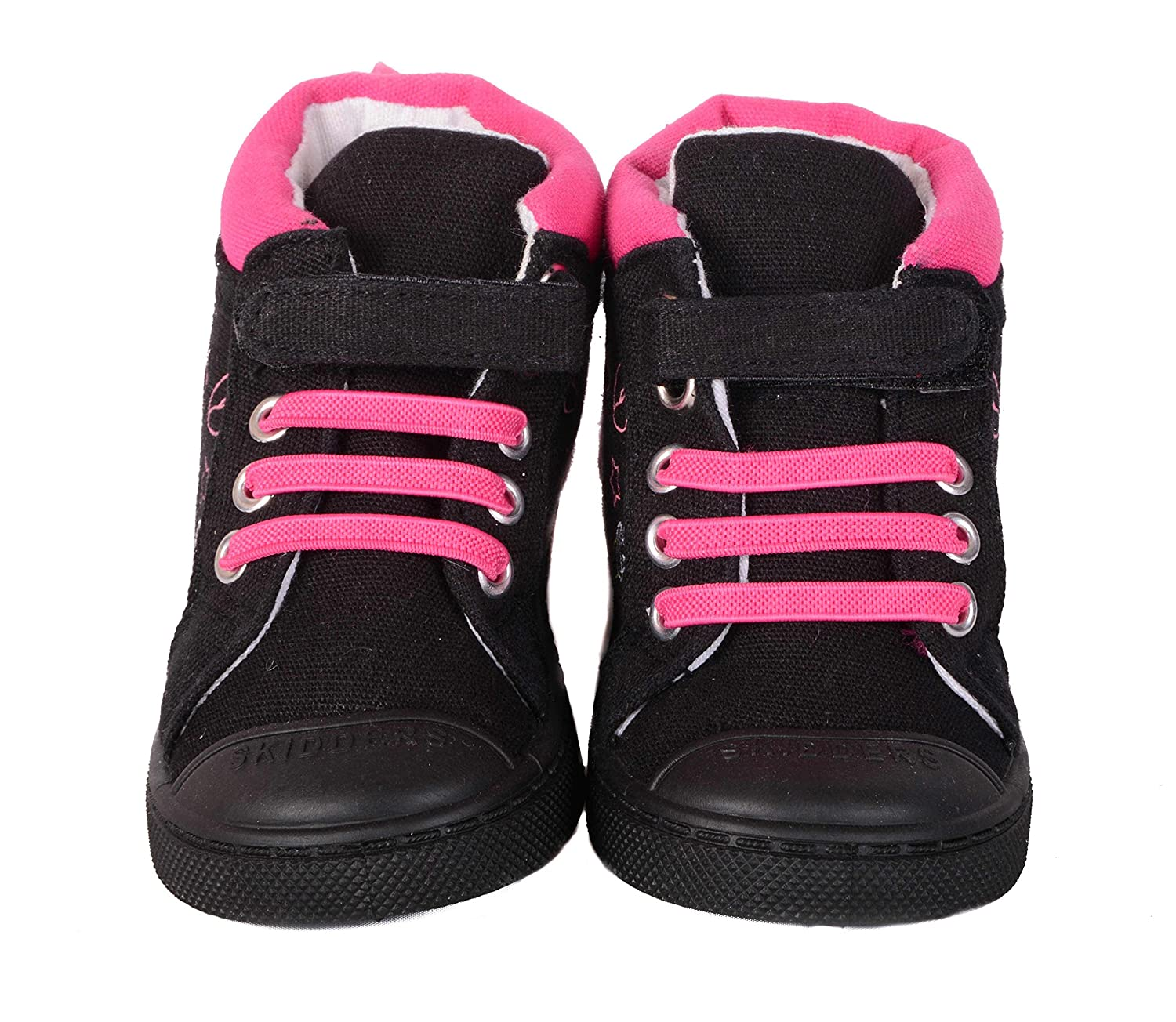 SKIDDERS Baby Toddler Girls High Top Canvas Sneakers Style SK1036