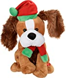 WeRChristmas Standing and Singing Dog with Flapping Ears Christmas Decoration, 30 cm