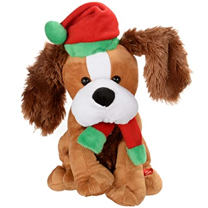 ac6a2b59d763 WeRChristmas Standing and Singing Dog with Flapping Ears Christmas ...