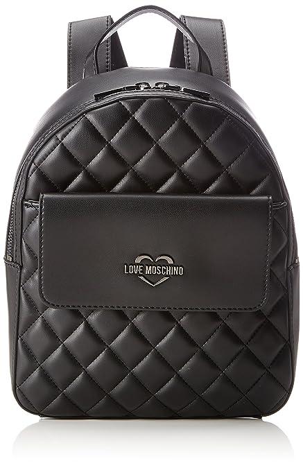 Borsa Fabric Grigio, Womens Backpack Handbag, Grau (Grey), 28x22x10 cm (B x H T) Love Moschino