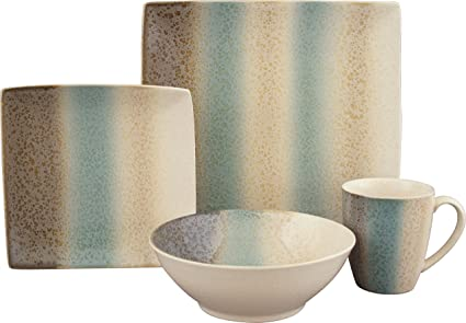 Sango 16 Piece Nouveau Dinnerware Set Teal  sc 1 st  Amazon.com : sango dinnerware sets - pezcame.com