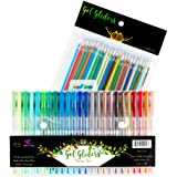 Gel Pens | Nature Pack by Gel Gliders | 24 Colors Inspired by Nature | Specialty Coloring Set | Includes 40% More Ink and 24 Gel Ink Refills