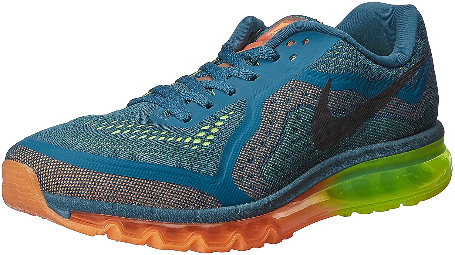 more photos 06839 0a718 Amazon.com   Nike Air Max 2014 Mens Style  621077-308, Night  Factor Blk Atmc Orng Vlt, Size 10.5   Road Running
