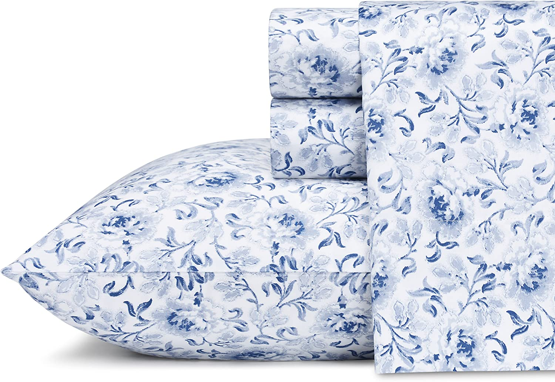 Laura Ashley Lorelei Cotton Sheet Set, King, 4 Piece