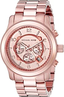 Amazon.com  Michael Kors Women s Runway Rose Gold-Tone Watch MK5128 ... a14a9ca000