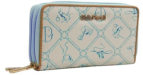 4f8f3c0e4bbcb5 Giulia Pieralli Damen Geldbörse mit Doppel Reißsverschluss Modell 02A  Glamour portmonee Portemonnaie Frauen Geldbeutel Geldbörsen (