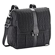 JJ Cole Backpack Diaper Bag, Black Tri Stitch