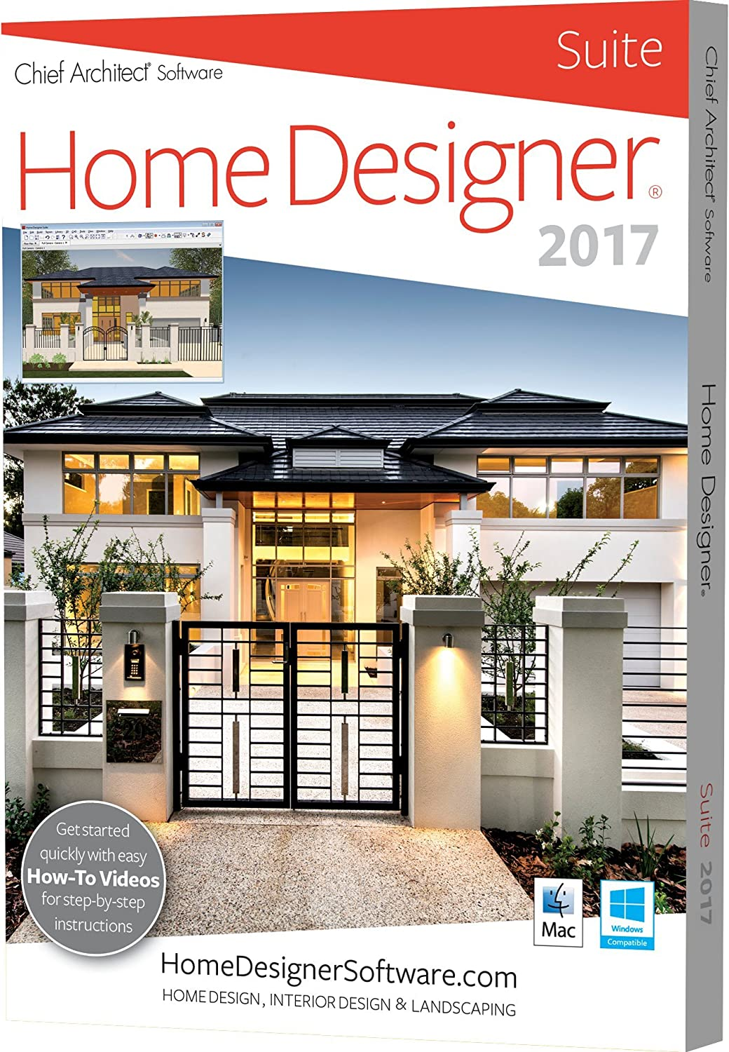 Amazoncom Chief Architect Home Designer Suite 2017 Software - home design suite 2016