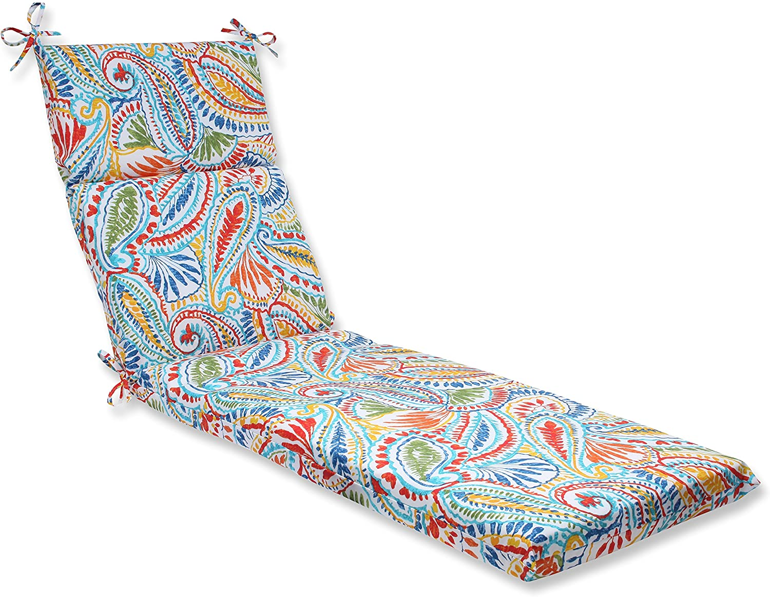 Pillow Perfect 572673 Outdoor/Indoor Ummi Chaise Lounge Cushion, 72.5 in. L X 21 in. W X 3 in. D, Multicolored