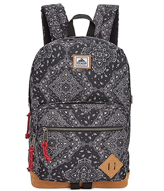 1369b90e9469 Steve Madden Men s Bandana Classic Print Suede Backpack Black Not  Applicable  Amazon.ca  Clothing   Accessories