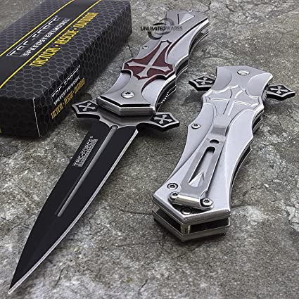 "Amazon.com: 9"" Tac Force Crusader Daga Cruz Medieval ..."