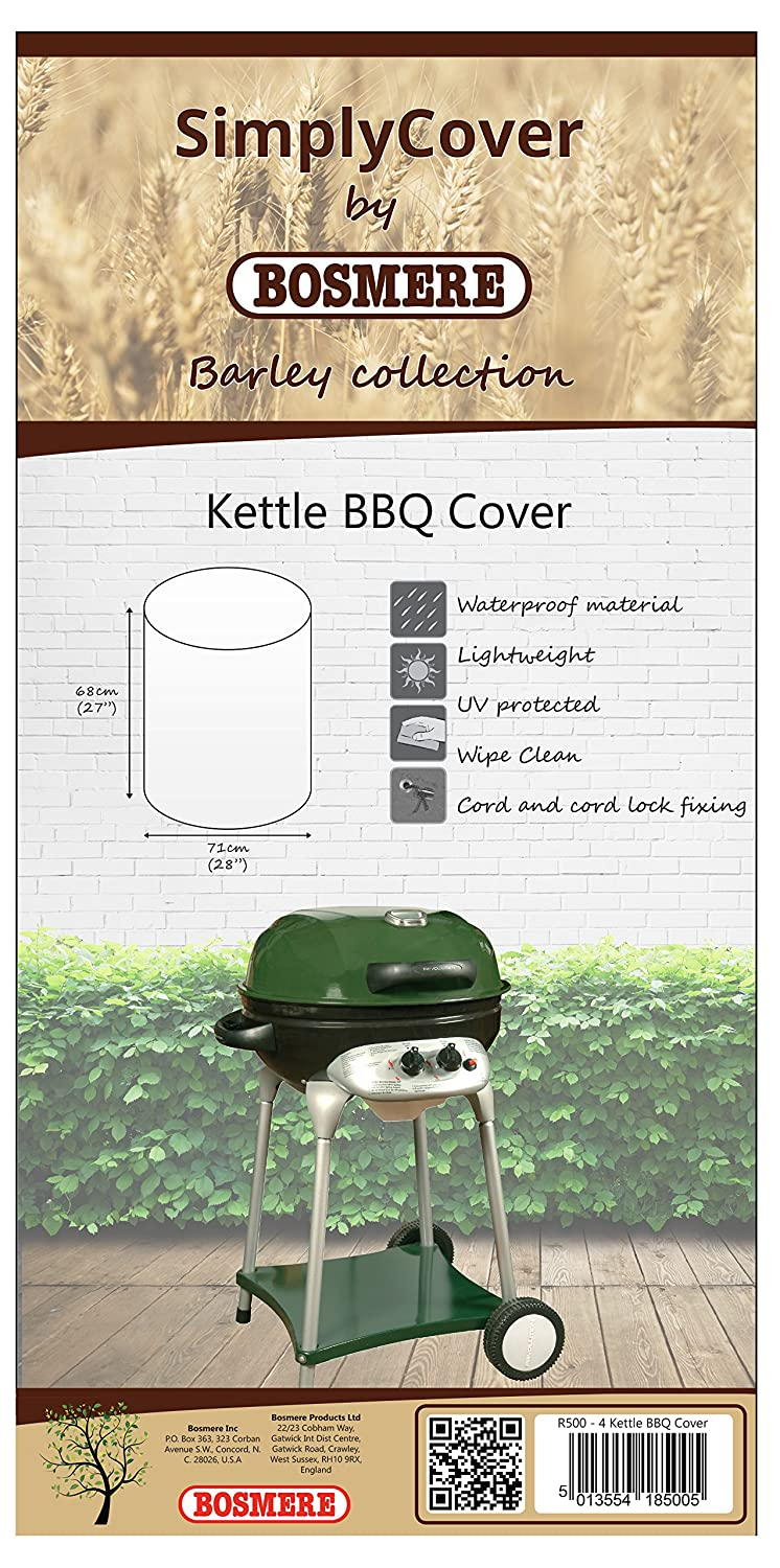 Bosmere R500 Simply Cover Barley (Beige) Kettle BBQ Cover BOSMERE PRODUCTS LIMITED