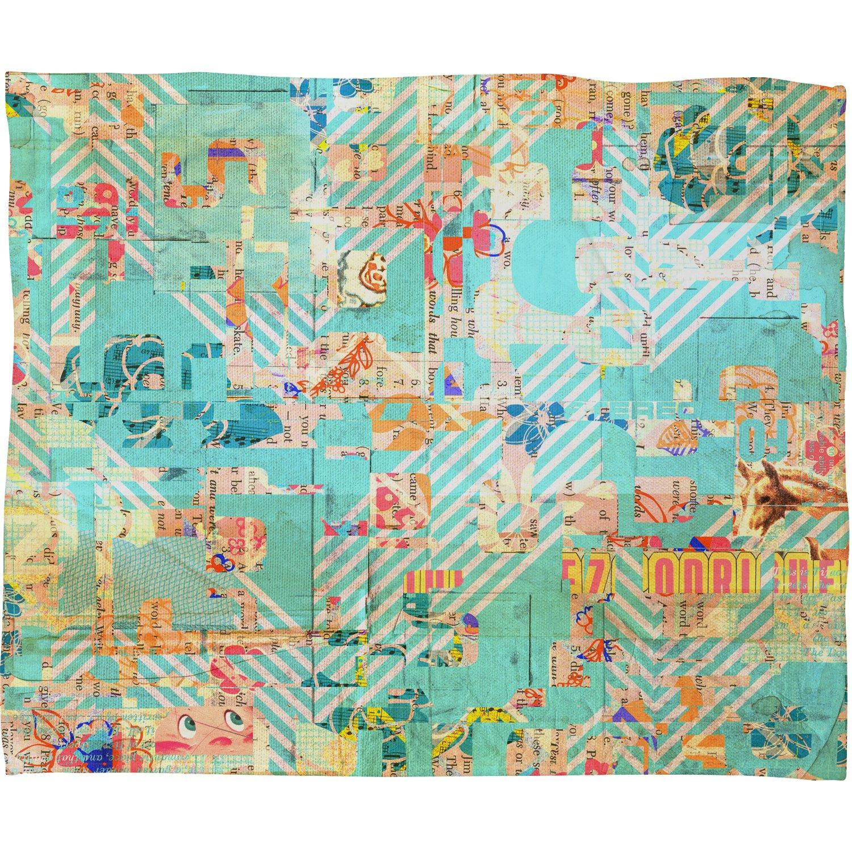 60 x 80 Deny Designs MIK Blue 42 Fleece Throw Blanket