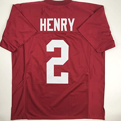 8a7b51e1f Unsigned Derrick Henry Alabama Red Custom Stitched College Football Jersey  Size Men s XL New No Brands