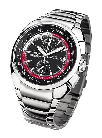 Reloj FIREFOX (CITIZEN) AVIATOR Cronógrafo FFS70-102 negro / rojo: Amazon.es: Relojes